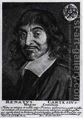 Portrait of Rene Descartes 1596-1650 2 by (after) Hals, Frans - Reproduction Oil Painting