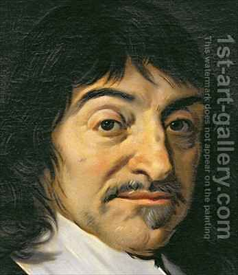 Portrait of Rene Descartes 1596-1650 3 by (after) Hals, Frans - Reproduction Oil Painting