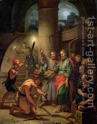 The Deliverance of St Paul and St Barnabas by Claude-Guy Halle - Reproduction Oil Painting