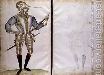 Suit of Armour for Sir John Smith from An Elizabethan Armourers Album by Jacobe Halder - Reproduction Oil Painting