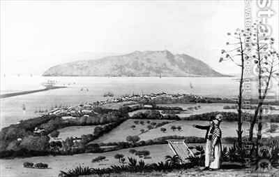 Kingston and Port Royal from A Picturesque Tour of the Island of Jamaica by James Hakewill - Reproduction Oil Painting