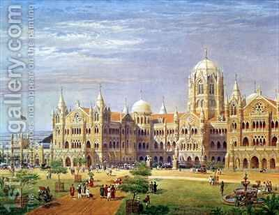 The British Raj Great Indian Peninsular Terminus by Axel Haig - Reproduction Oil Painting