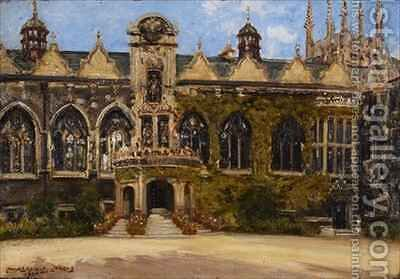 Oriel College by J. Edward Homerville Hague - Reproduction Oil Painting