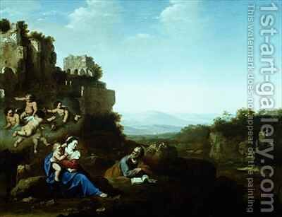 The Holy Family by Jan van Haensbergen - Reproduction Oil Painting