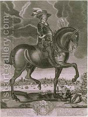Equestrian Portrait of Oliver Cromwell by Albert Haelwegh - Reproduction Oil Painting
