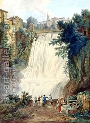 The Falls at Tivoli by Jakob Philippe Hackert - Reproduction Oil Painting