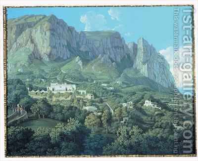 View of Anacapri by Jakob Philippe Hackert - Reproduction Oil Painting