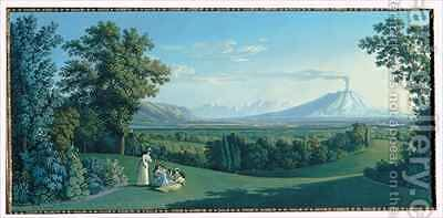 The English Garden of Caserta by Jakob Philippe Hackert - Reproduction Oil Painting