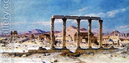 The Remains of Zenobias Palace Palmyra by Carl Haag - Reproduction Oil Painting