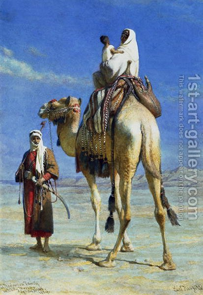 A Bedoueen Family in Wady Mousa Syrian Desert by Carl Haag - Reproduction Oil Painting