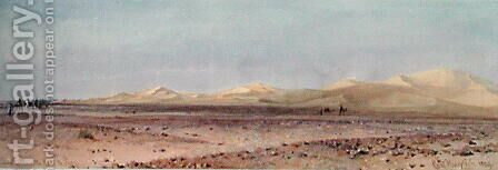 Sand Hills on the Road to Suez by Carl Haag - Reproduction Oil Painting