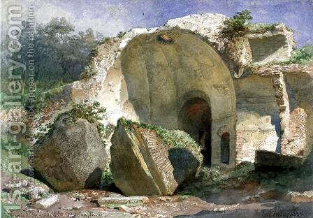 In Tempio di Serapide Villa Adriana Tivoli by Carl Haag - Reproduction Oil Painting
