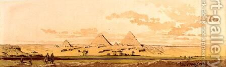 The Pyramids of Giza by Carl Haag - Reproduction Oil Painting