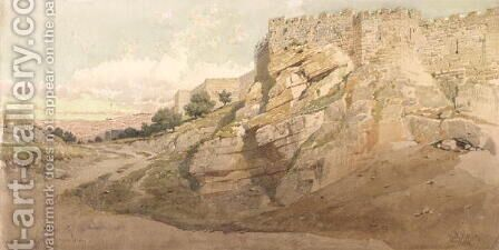 The Northern Wall of Jerusalem by Carl Haag - Reproduction Oil Painting