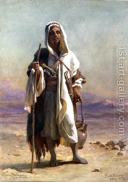 A Young Bedawee from Sinai by Carl Haag - Reproduction Oil Painting