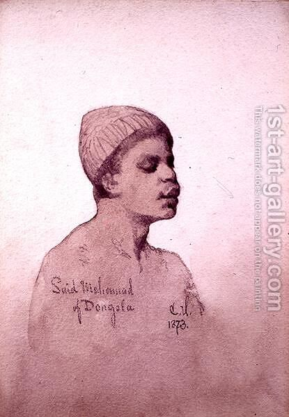 Said Mohamad of Dongola Sudan by Carl Haag - Reproduction Oil Painting