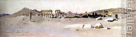 The Remains of Zenobias Palace Palmyra 2 by Carl Haag - Reproduction Oil Painting