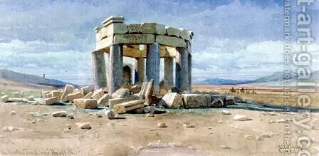 A Moslem Tomb near Baalbek by Carl Haag - Reproduction Oil Painting