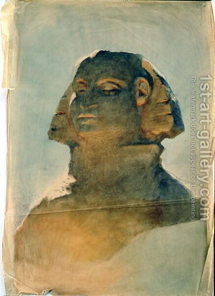 Sphinx at Giza 2 by Carl Haag - Reproduction Oil Painting