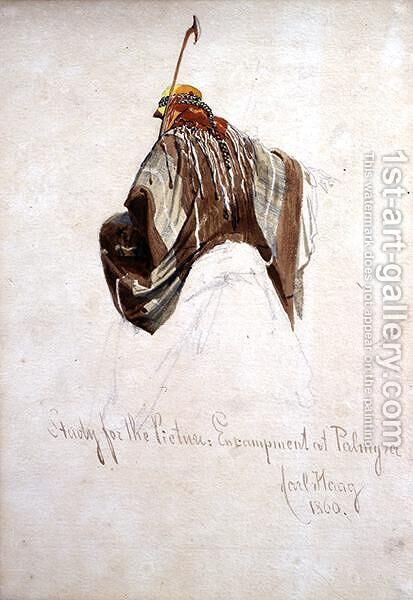 Study for Encampment at Palmyra top of figure on camels back by Carl Haag - Reproduction Oil Painting