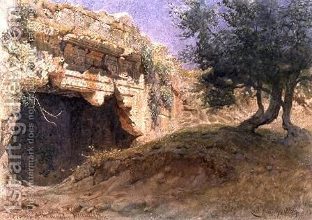 Entrance to the Tombs of the Kings Jerusalem by Carl Haag - Reproduction Oil Painting
