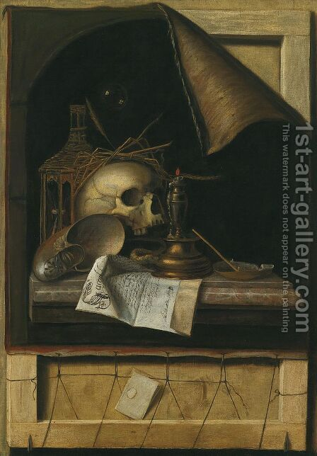 Vanitas by Cornelis Norbertus Gysbrechts - Reproduction Oil Painting