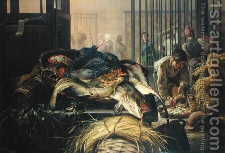 The Fish Market by Dominique Henri Guifard - Reproduction Oil Painting