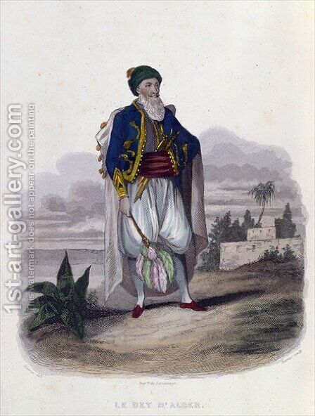Hussein Pacha 1765-1838 the Last Dey of Algiers by (after) Guerin, Th. - Reproduction Oil Painting