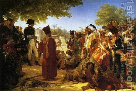 Napoleon Bonaparte 1769-1821 Pardoning the Rebels at Cairo by Baron Pierre-Narcisse Guerin - Reproduction Oil Painting