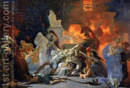 The Death of Priam by Baron Pierre-Narcisse Guerin - Reproduction Oil Painting
