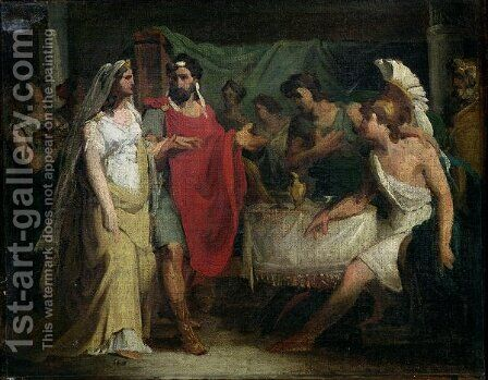 The Wedding of Alexander the Great 356-323 BC and Roxana by Baron Pierre-Narcisse Guerin - Reproduction Oil Painting