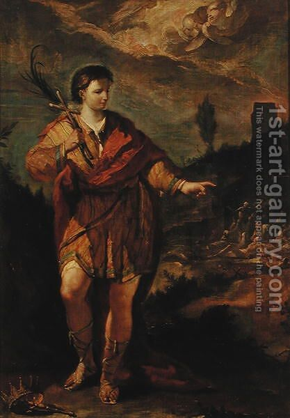 St Magnus by Giovanni Antonio Guardi - Reproduction Oil Painting