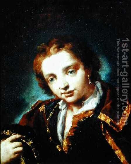Portrait of a Young Man by Giovanni Antonio Guardi - Reproduction Oil Painting