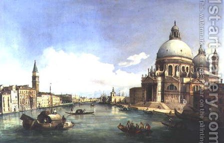 Santa Maria della Salute Venice by Giovanni Grubacs - Reproduction Oil Painting