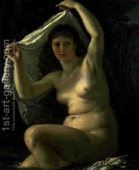 Diana in the Bath by Antoine-Jean Gros - Reproduction Oil Painting