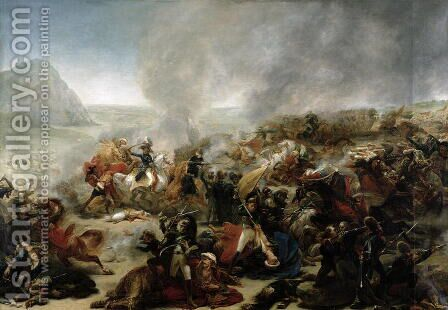 The Battle of Nazareth by Antoine-Jean Gros - Reproduction Oil Painting