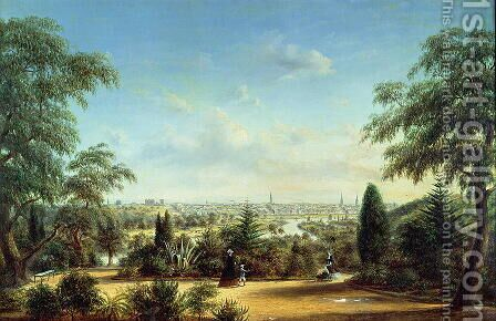 View of Melbourne looking across the Yarra by Henry Gritten - Reproduction Oil Painting