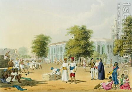 Scene in Bombay by (after) Grindlay, Captain Robert M. - Reproduction Oil Painting