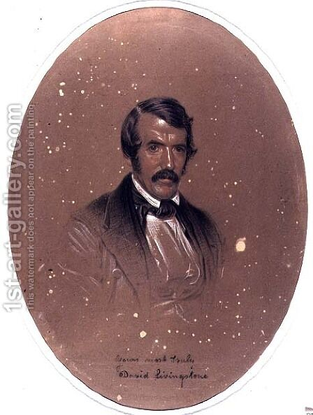 Portrait of David Livingstone 1813-73 by Edward Grimston - Reproduction Oil Painting