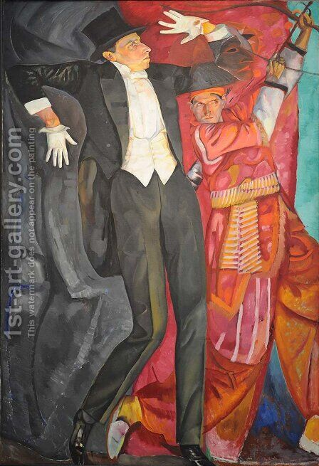 Portrait of the Producer Vsevolod Emilievich Meyerhold 1874-1940 by Boris Dmitrievich Grigoriev - Reproduction Oil Painting