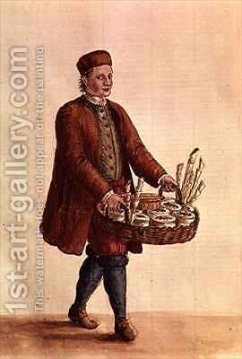 Venetian Seed Merchant by Jan van Grevenbroeck - Reproduction Oil Painting