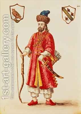 Marco Polo 1254-1324 dressed in Tartar costume by Jan van Grevenbroeck - Reproduction Oil Painting