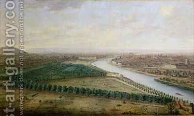 Paris view from above the Champs Elysees by Charles Leopold Grevenbroeck - Reproduction Oil Painting