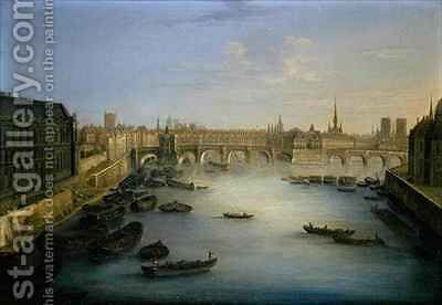 View of Paris by Charles Laurent Grevenbroeck - Reproduction Oil Painting