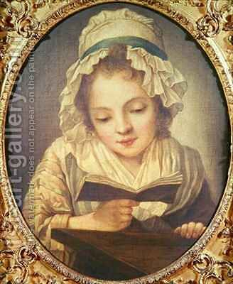 The Reader by (after) Greuze, Jean Baptiste - Reproduction Oil Painting