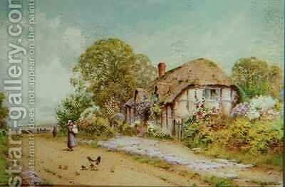 A Devonshire Cottage by J.A. Lynas Gray - Reproduction Oil Painting