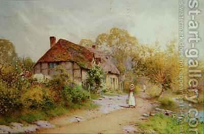 A Herefordshire Lane by J.A. Lynas Gray - Reproduction Oil Painting
