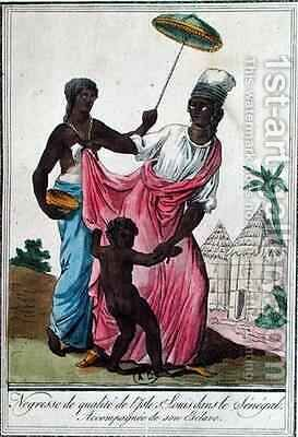 High class woman from St Louis Island Senegal by (after) Grasset de Saint-Sauveur, Jacques - Reproduction Oil Painting