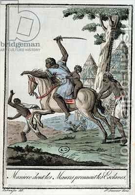 How the Moors capture their slaves by (after) Grasset de Saint-Sauveur, Jacques - Reproduction Oil Painting