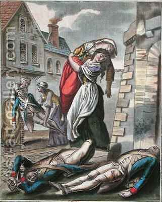 Women helping the injured during the French Revolution by (after) Grasset de Saint-Sauveur, Jacques - Reproduction Oil Painting